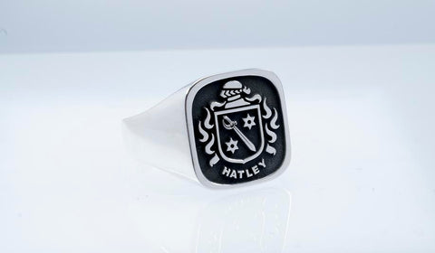Hatley family crest ring