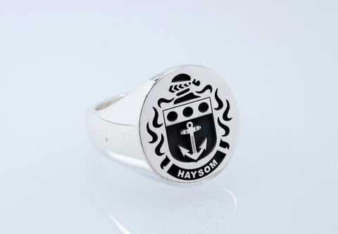 Haysom family crest ring