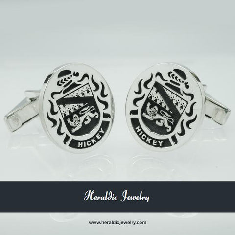 Hickey family crest cufflinks
