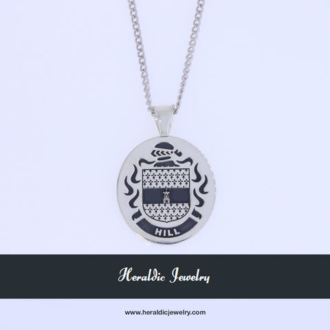 Hill family crest pendant