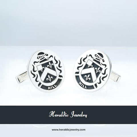 Hill family crest cufflinks