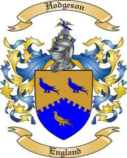 Hodgeson family crest