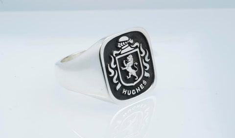 Hughes family crest ring