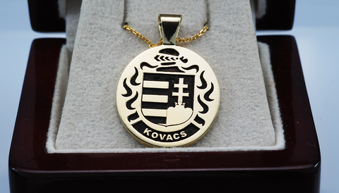 Hungary family crest pendant