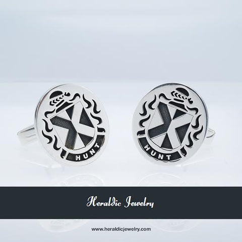 Hunt family crest cufflinks