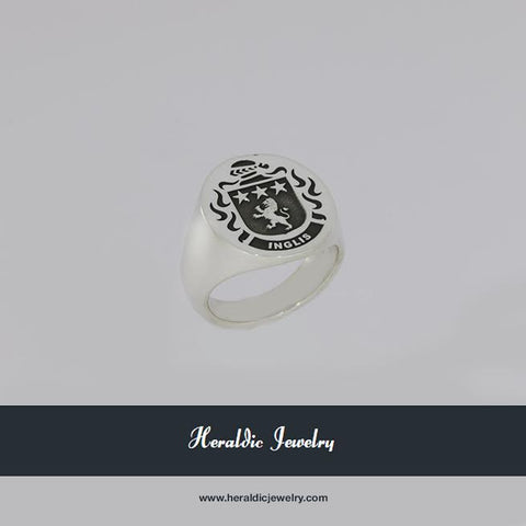 Inglis silver family crest ring
