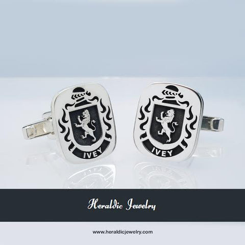 Ivey family crest cufflinks