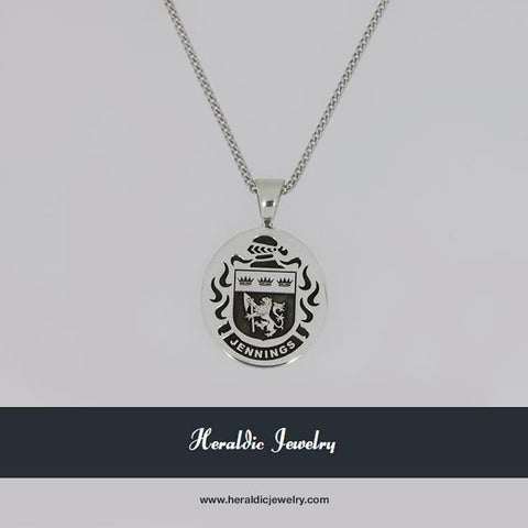 Jennings family crest necklace