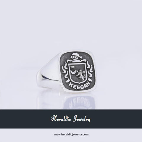 Keegan family crest ring