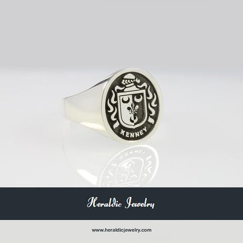 Kenney family crest ring