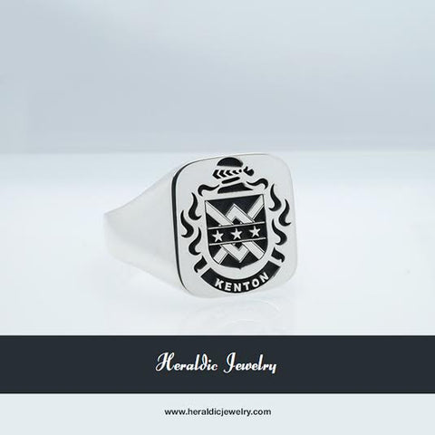 Kenton family crest ring
