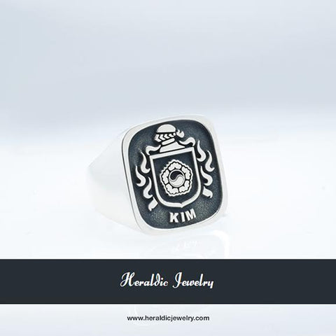 Kim Korea family crest ring