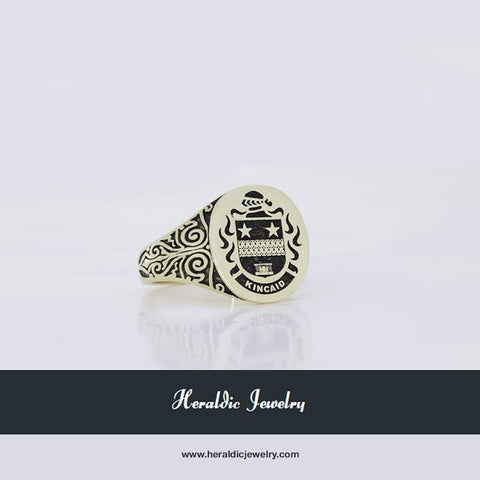 Kincaid family crest ring