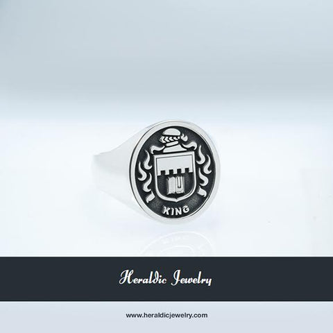 King family crest ring