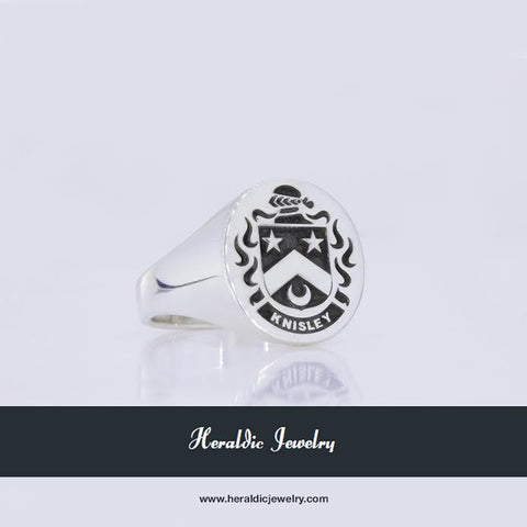 Knisley family crest ring