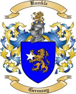 Kunkle family crest