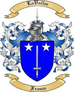 LaVallee family crest