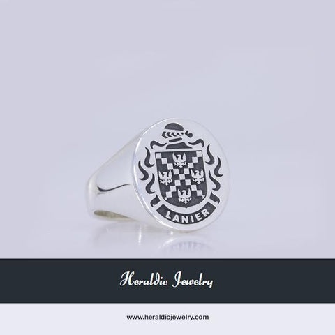 Lanier oval crest ring