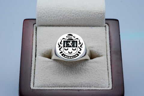Laughlin family crest ring