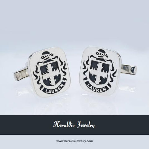 Lauren family crest cufflinks
