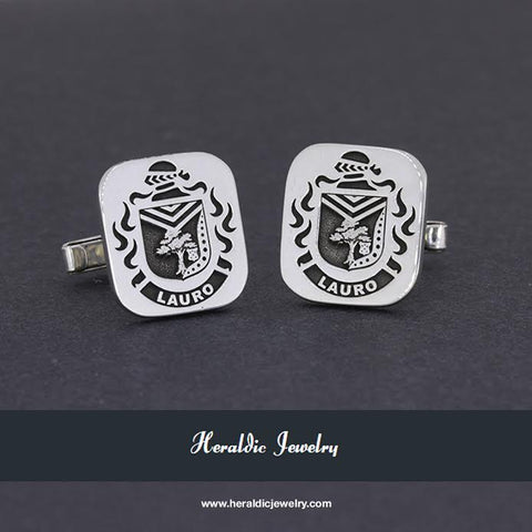 Lauro family crest cufflinks