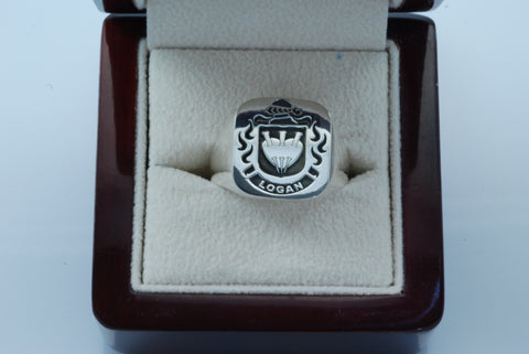 Logan family crest ring