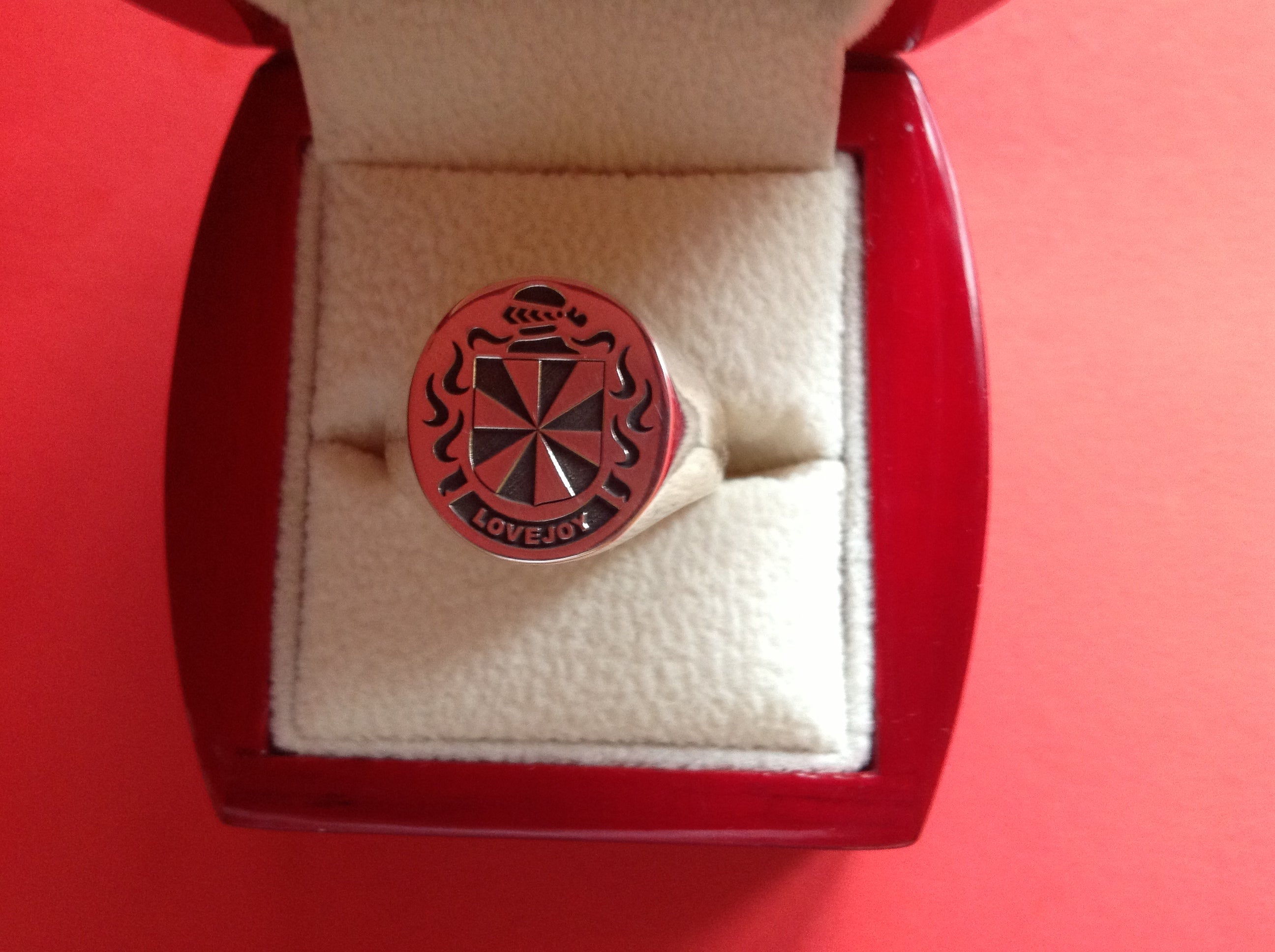 Lovejoy family crest ring