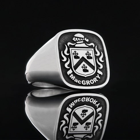 MacGrory family crest ring