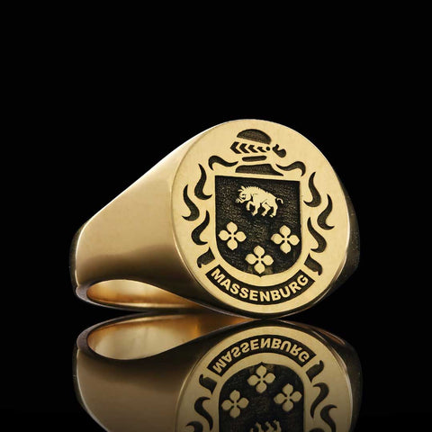 Massenburg family crest ring