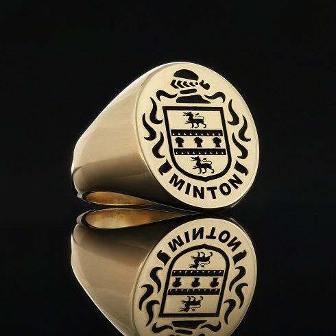 Minton family crest ring