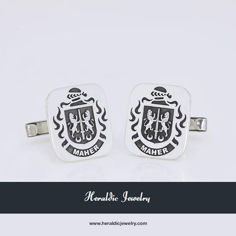 Maher family crest cufflinks
