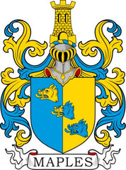 Maples family crest