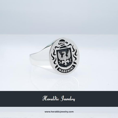 Marchini family crest ring