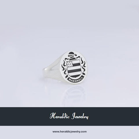 Marshall family crest ring