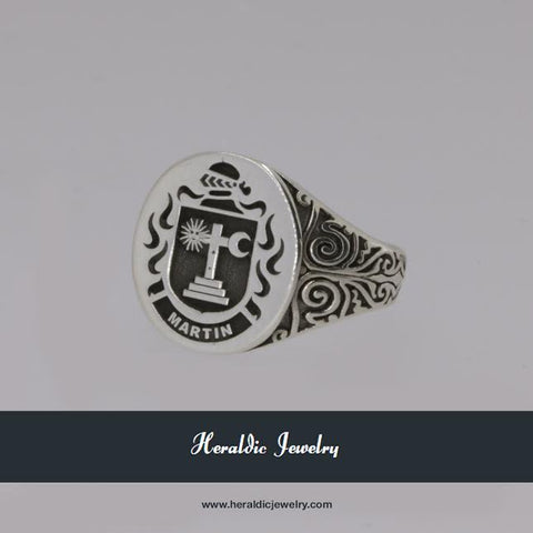 Martin ladies family crest ring