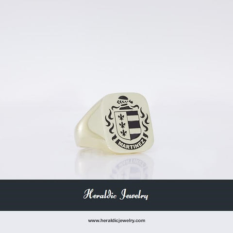 Martinez gold family crest ring