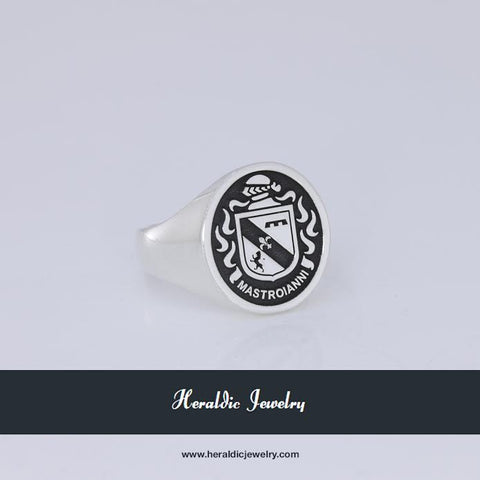 Mastroianni family crest ring