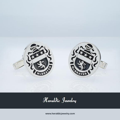 McBrayer family crest cufflinks