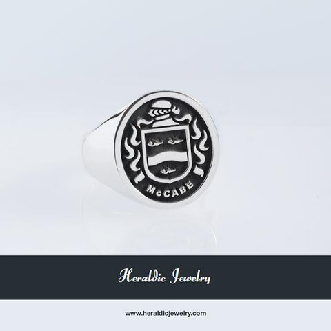 McCabe family crest ring