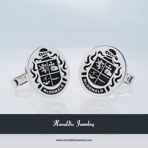 McDonald family crest cufflinks