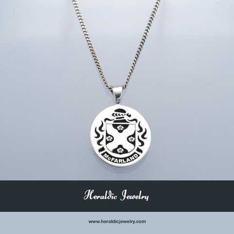 McFarland family crest necklace