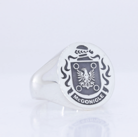 McGonigle family crest ring
