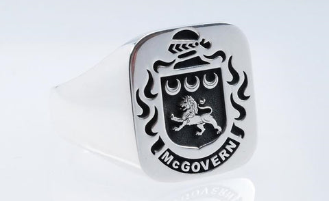 McGovern family crest ring