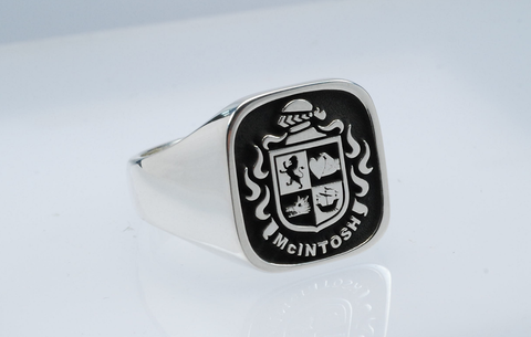 McIntosh family crest ring