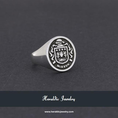 McKeown family crest ring