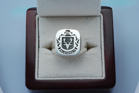 McKinney family crest ring
