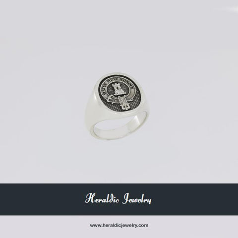 MacLean Silver clan crest ring