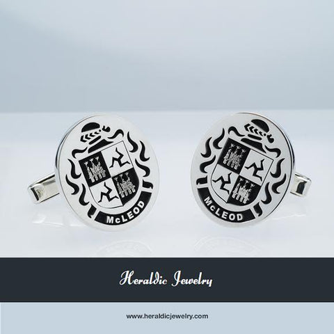 McLeod family crest cufflinks
