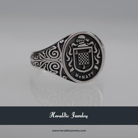McNatt family crest ring