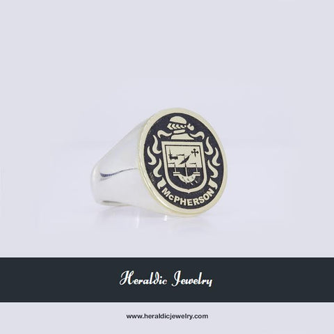 McPherson family crest ring